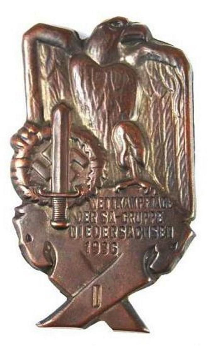 SA, Insignia del Grupo de la Baja Sajonia 1936